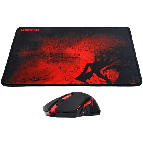 Zoom Kit Gamer Mouse Centrophorus +  Pad Mouse Redragon M601-ba
